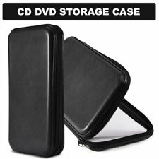80 CD DVD Carry Case Disc Storage Holder CD Sleeve Wallet Box for In Car Black
