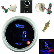 "Car 2"" 52mm Blue Digital LED Electronic Water Temperature Gauge Universal White"