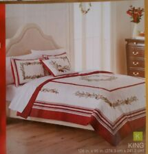 "St Nicholas Square ""CAROL"" KING Reversible Quilt NEW 108 x 95"