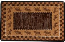 Cabelas Moose Train Wilderness Lodge Rustic Cabin Area Rug Mat 22 x 36 Woodland