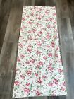 1940's Feedsack White Floral Pink 36 1/2 x 43 1/2