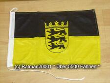 Fahnen Flagge Baden Württemberg Bootsfahne Tischwimpel - 30 x 45 cm