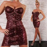 Sexy Cocktail Party Mini Dress clubbing Sequin Mini Dress Size 8-12