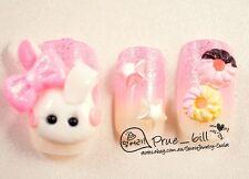 70% Off! Bow Bunny Donut Star Pink Gradual Nail Tips 24pcs Universal