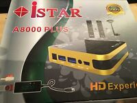 istar korea A 8000 With 6 Months Free Online Tv 3000 Channels no need dish
