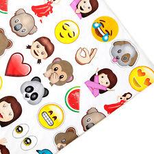 Emoji Print Kids Arts Crafts Upholstery Fabric Polycotton Textile Material
