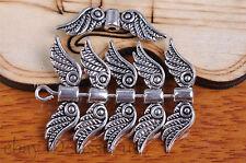 20pcs 23mm Silver End Bead angel wing style Jewelry Bracelet DIY Marking 7096