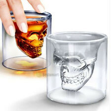 2017 Crystal Skull Head Vodka Shot Whiskey Home Wine Beer Tea Glass Drinking Cup