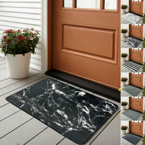 Memory Foam Doormats Front Entrance Rug Non Slip Thick Welcome Mats 50 x 80 cm