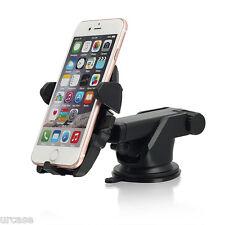 Universal Windshield Mount Car Holder Cradle FR GPS iPhone X 8 7 6 6s Plus 5 SE for Samsung Galaxy S8/s8 Black