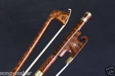 Yinfente Violin Bow 4/4 Snakewood Straight Pretty inlay AAA Bow Hair #S12