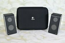Logitech USB Powered Portable Notebook Laptop Speakers W/Zip Hard Case S-0155A