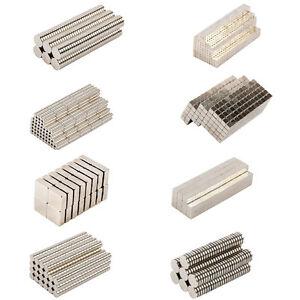 Starke Magnete Neodym N52 N42 N45 viele Größen + Formen Scheiben Würfel Quader
