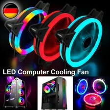 Gehäuselüfter LED RGB PC Computer Lüfter Kühler Fan Silent Leise 4 Pin 120mm 12V