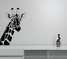 Giraffe Head Wall Decal Wildlife African Animal Vinyl Sticker Safari Art Decor 1