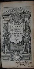 Status particularis Regiminis S. C. Maj. Ferdinandi II. - Leiden Elzevir 1637