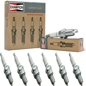 6 Champion Copper Spark Plugs Set for JENSEN 541S 1961-1962 L6-3.9L