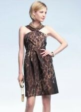 BANANA REPUBLIC SIZE 10 COCKTAIL/ PARTY DRESS SAFARI PRINT