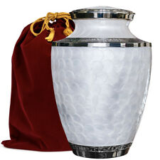 with Velvet Bag A Warm and Lovely Large Urn with a Hand Crafted Classy Finish to Honor Your Loved One Trupoint Memorials Bronze Adult Cremation Urn for Human Ashes