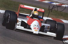 AYRTON SENNA AUTOGRAPH SIGNED PP PHOTO POSTER