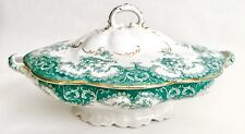 "Antique Victorian (1890s) W.M.Adams ""Rosetta"" 11""/29cm Porcelain Lidded Tureen"
