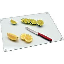 Large Chopping Board Kitchen Utensil Serving Board Glass Worktop Saver 40 x 30cm