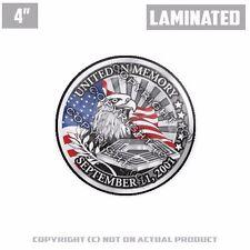 "1 Custom Thick Laminated Glossy 4"" 3M Premium Decal Sticker 911 9-11 USA EAGLE"