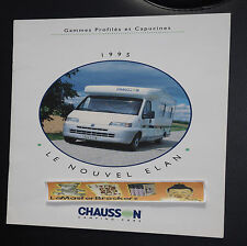 CHAUSSON 1995 ACAPULCO 48 52 68 72 33 36 37 39  CAMPING-CAR BROCHURE CATALOGUE
