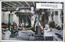 Ireland Postcard AN IRISH KITCHEN Eva Brennan Woman Spinning Churn Carbo