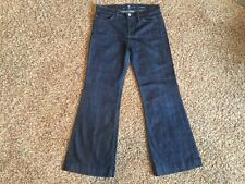 7 For All Mankind Ginger Wide Leg Jeans Size 29 Dark Wash
