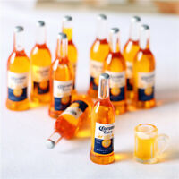 10 X 1/12 Dollhouse Miniature Resin Bottle Simulation wine Bott_ws