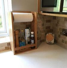 Bambou cuisine serviette en papier support étagère à épices
