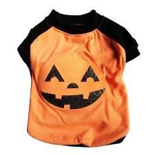 NWT Orange pumpkin jack o lantern LED light-up dog shirt costume XS Halloween
