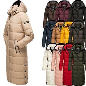 Navahoo Damen Winter Mantel Steppmantel Outdoor Jacke Warm Extra Lang NEU Isalie
