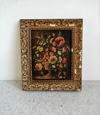 Antique Early Dutch School Floral Study 17th Century Style Oils on Board Signed