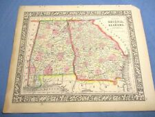 Map Of Georgia 1865.Georgia Antique North America County Maps For Sale Ebay