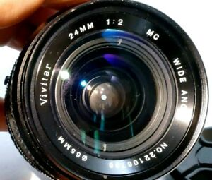 Vivitar 24mm f2.0 FD manual lens adapted to Canon EOS M camera M200 M50 M10