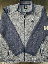 New Men Dallas Cowboys Alpine Sweater Fleece Full Zip Style LA8CN325 Sizes L 2XL