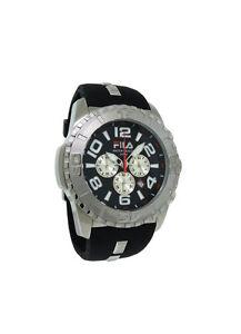 Fila FA0847-11 Abissi Men's Black Chronograph Date Silicone & Steel Watch