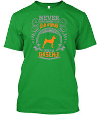 Old Woman With A Basenji T S Premium Tee T-Shirt