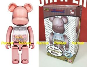 Medicom Bearbrick My First Baby Pink & Gold 200% Chogokin Be@rbrick