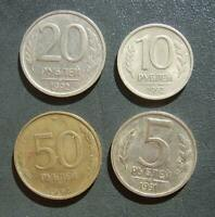 RUSSIA Russland 50 & 20 & 10 & 5 Roubles Rubel 1991 - 1992 - 1993