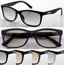 SL427 Retro Light Tinted Bifocal Reading Glasses Matt Eyebrow Trendy Stylish ^^