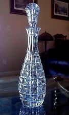 """Vintage Czech Bohemia Crystal Glass Ewer Carafe Decanter & Stopper 15"""" QUALITY"""