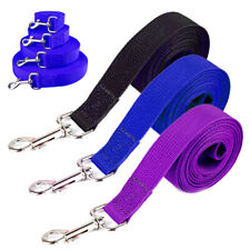 5/10/20M Dog Tracking Lead Long Line Training Leash Lunge Nylon Rope Black Blue
