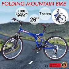 "VTT 26"" Mountainbike 7 Vitesse Vélo Pliant Shimano Homme Vélos Professionnel"