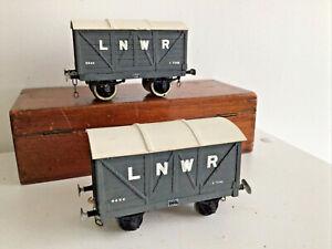 O/GAUGE 7mm SCRATCH/KIT BUILT GREY LNWR BOX VANS ASSORTED MAKES USED JOBLOT X 4