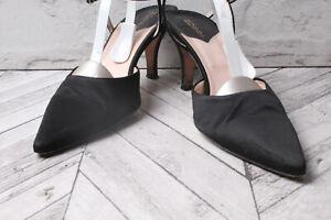 HOBBS Court Pumps Sandals Satin Black Summer Hoilday RRP £159 EU 40 UK 6.5