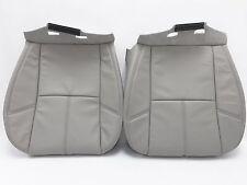 2007-2014 Tahoe Suburban Seat Cover Leather Driver+Passenger Light Titanium gray