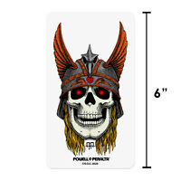"""Powell Peralta Andy Anderson Viking Skull Clear Skateboard Sticker 6"""" x 3.5"""""""